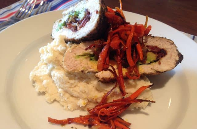 Chef Rev's Stuffed Chicken Breast with Cauliflower Mash