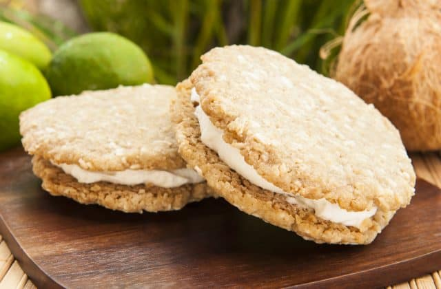 Chef Maria Hesse's Fig & Coconut Ice Cream Sandwiches With Hemp Seed Cookies